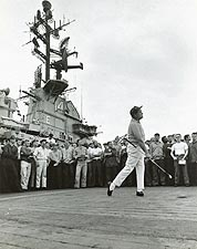 Bob Hope Golfing Aboard USS Ticonderoga Photo Print for Sale
