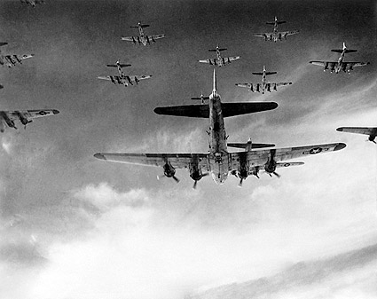 Boeing B-17 398th Bomb Group Formation WWII Photo Print