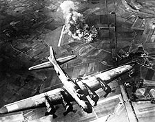 Boeing B-17 Flying Fortress over Germany Photo Print for Sale