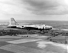 Boeing B-17 Memphis Belle in Flight England Photo Print for Sale