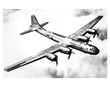 Boeing B-29 Superfortress in Flight WWII Photo Print for Sale