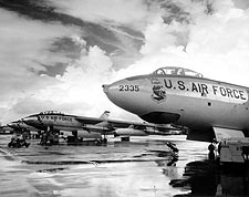 Boeing B-47 Stratojet Bombers Flight Line Photo Print for Sale