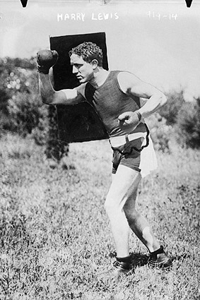 Boxer Harry Lewis Boxing Outdoors Photo Print