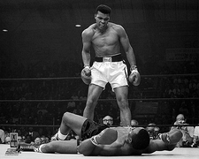 Boxer Muhammad Ali Knocks Out Sonny Liston Photo Print