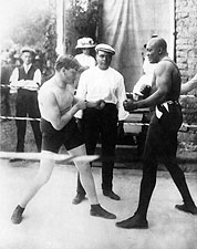 Boxers Marty Cutler Vs Jack Johnson 1914 Photo Print for Sale