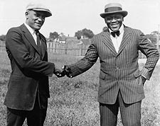 Boxers Tut Jackson and Jack Johnson Meeting Photo Print for Sale