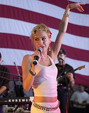 Brittany Murphy Entertains Troops Patriotic Photo Print for Sale