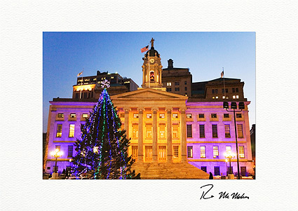 Brooklyn Borough Hall New York City Individual Christmas Cards