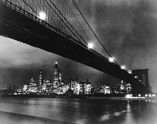 Brooklyn Bridge at Night, New York City NYC Photo Print for Sale