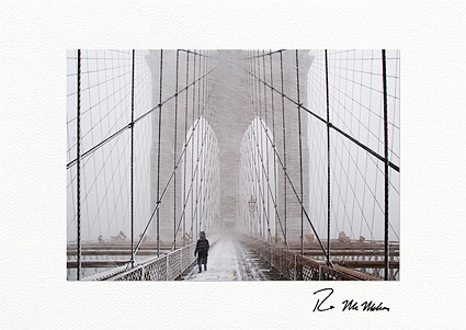 Brooklyn Bridge Blizzard Individual Christmas Cards
