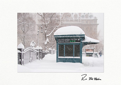 Brooklyn Bridge - City Hall Subway Station Boxed Holiday Cards