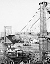 Brooklyn Bridge in New York City 1901 Photo Print for Sale