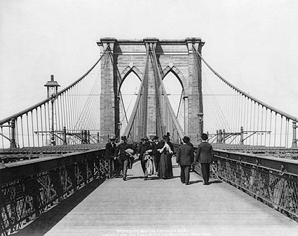 Brooklyn Bridge New York City 1898 Photo Print