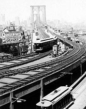 Brooklyn Bridge View Toward Manhattan 1899 Photo Print for Sale