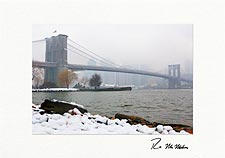 Brooklyn Bridge Winter New York City Personalized Christmas Cards