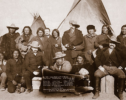 Buffalo Bill Cody w/ American Indian Chiefs Photo Print