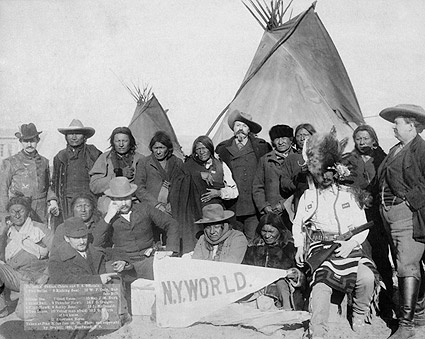 Buffalo Bill w/ Indian Chiefs & Officials Photo Print