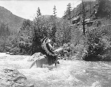 Bullchief Crossing Rapids Edward S. Curtis Photo Print for Sale