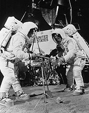 Buzz Aldrin and Neil Armstrong in Training Photo Print for Sale