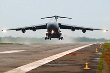 C-5 Galaxy Aircraft Taking Off US Air Force Photo Print for Sale