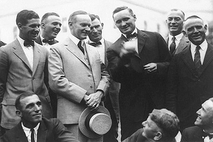 Calvin Coolidge & Walter Johnson Baseball Photo Print