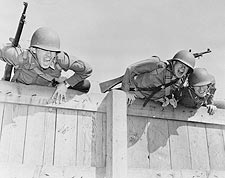 Camp Edwards, MA. Obstacle Course WWII Photo Print for Sale
