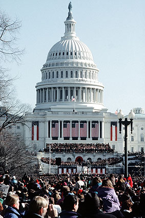 Capitol Building at Bill Clinton Inauguration 1997 Photo Print