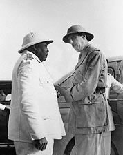Charles de Gaulle & Governor General Eboue Photo Print for Sale