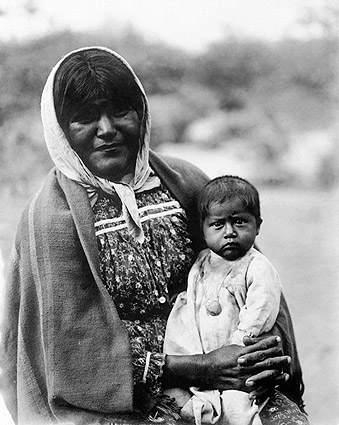Chemehuevi Mother & Child Edward S. Curtis Photo Print