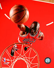 Chicago Bulls Basketball Michael Jordan Dunk Photo Print For Sale