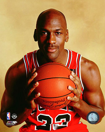 Chicago Bulls Basketball Michael Jordan Posed Photo Print
