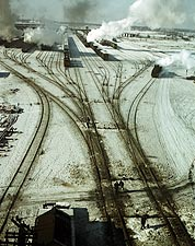 Chicago & North Western Railroad Yard 1942 Photo Print for Sale