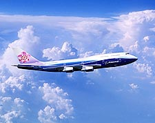 China Airlines Boeing 747-400 in Flight Photo Print for Sale
