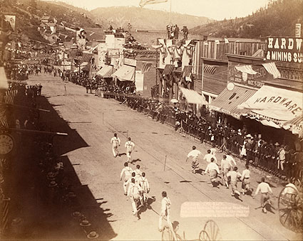 Chinese Hose Team Race Deadwood 1888 Photo Print