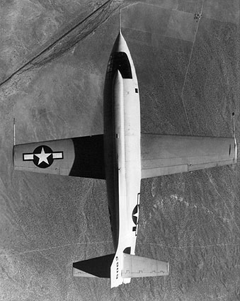 Chuck Yeager Bell X-1 Aircraft in Flight Photo Print