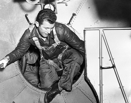 Chuck Yeager in B-29 Entering the Bell X-1 Photo Print