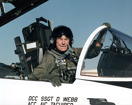 Chuck Yeager in F-15 Cockpit U.S. Air Force Photo Print