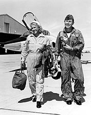 Chuck Yeager & Jackie Cochran Photo Print for Sale