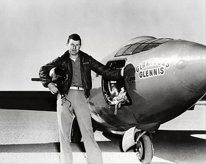 Chuck Yeager w/ Bell X-1 Aircraft Photo Print