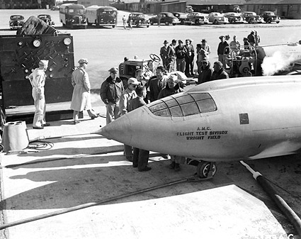 Chuck Yeager w/ Bell X-1 & Ground Crew Photo Print