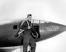 Chuck Yeager w/ Bell X-1 Rocket Plane Photo Print for Sale