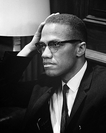 Civil Rights Leader Malcolm X Portrait Photo Print