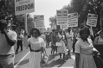Civil Rights March D.C. Warren Leffler 1963 Photo Print