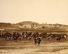 Civil War Canon Battery in Battle Formation Photo Print for Sale