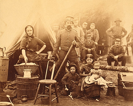 Civil War Woman w/ Children at Camp 1862 Photo Print