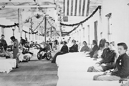 Civil War Wounded Soldiers in Hospital Photo Print