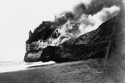 Cliff House Burning San Francisco 1907 Photo Print