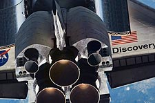 Close-up STS-121 Discovery Shuttle Tail Photo Print for Sale