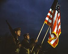Color Guard of Black Army Engineers 1941 Photo Print for Sale