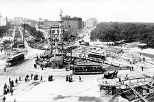Columbus Circle New York City 1901 Photo Print for Sale